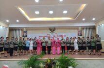 Polwan RI dan TNI di Sulut bersinergi dalam acara perayaan HUT ke-71 Polwan RI.