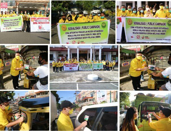 PN Kotamobagu Bikin Aksi Bangun Zona Integritas dan Tolak Gratifikasi