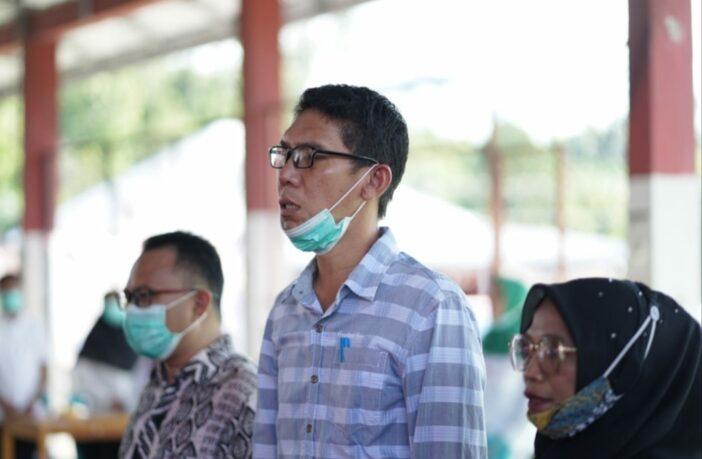 Ketua Komisi II DPRD Bolsel Zulkarnain Kamaru saat mengawal Musrenbang Kecamatan