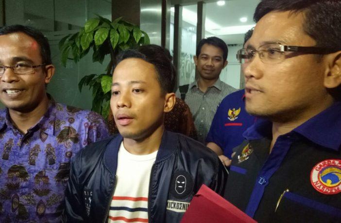 Komika Muhadkly alias Acho saat di Mapolda Metro Jaya