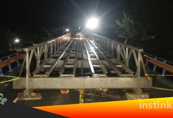 Jembatan Darurat Kosio Selesai Dibangun