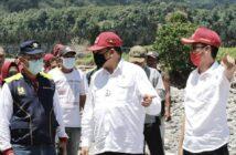 H2M dan Bupati Iskandar Kamaru mendampingi kunjungan Kepala BWS Sulawesi I Ir Bastari saat kunjungan pascabencana di Kabupaten Bolsel belum lama ini.