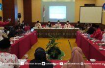 Bupati Hi Iskandar Kamaru SPt bersama Wabup Deddy Abdul Hamid dalam rapat Koordinasi antara Pemda Bolsel dengan BPJS Kesehatan Cabang Tondano