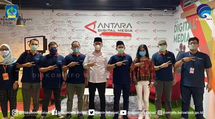 Bupati Iskandar Bersama Kominfo Bolsel Berkunjung di Kantor Antara